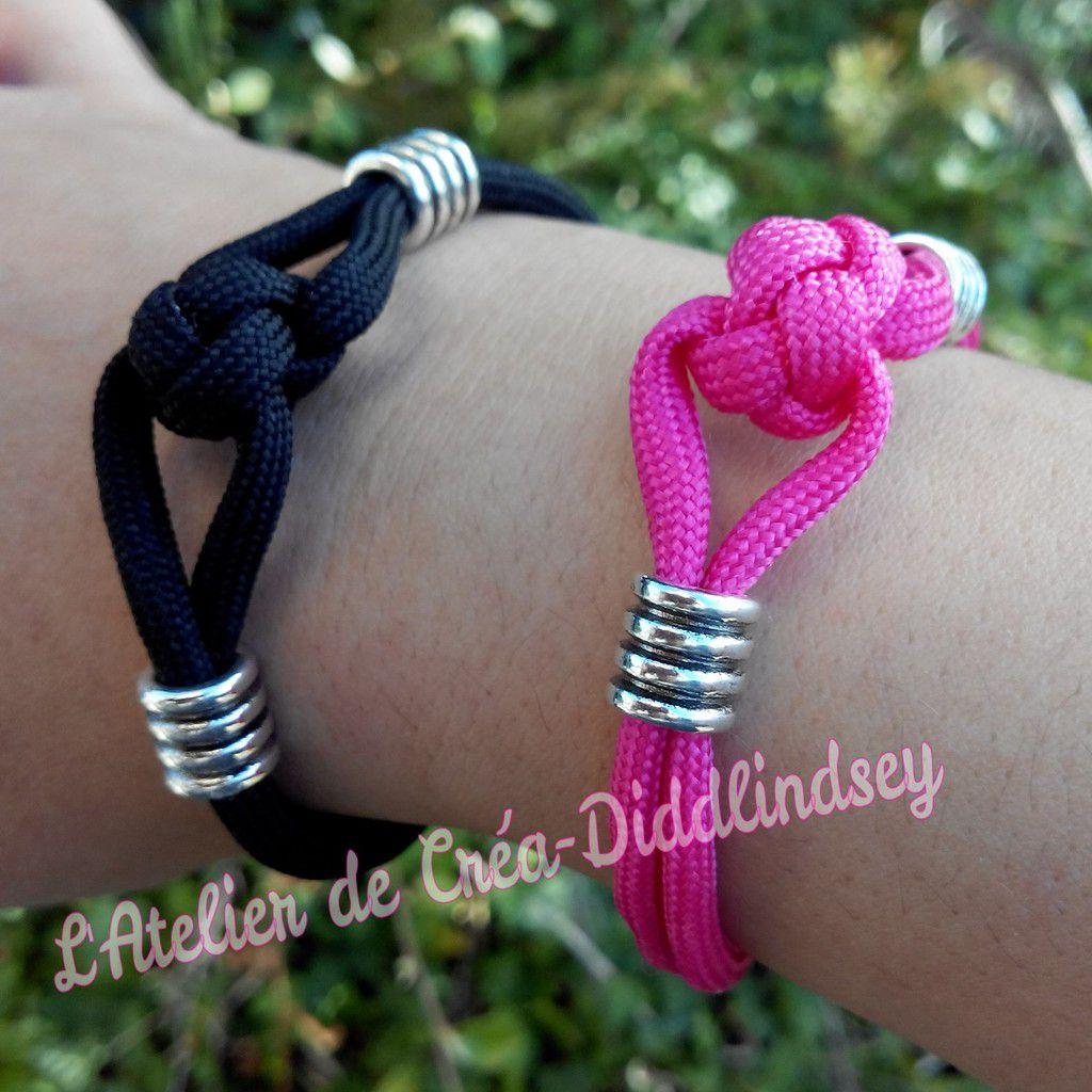 voici deux jolis bracelet réalisé en paracorde dont vous pouvez trouver le modèle dans mon dernier livre