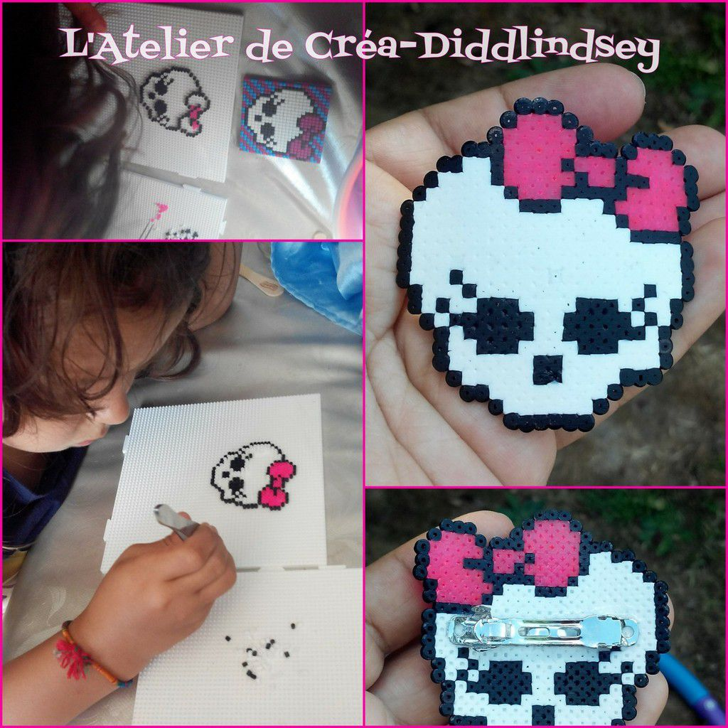 barrette monster high en perle hama mini par alyssonne le blog de diddlindsey. Black Bedroom Furniture Sets. Home Design Ideas