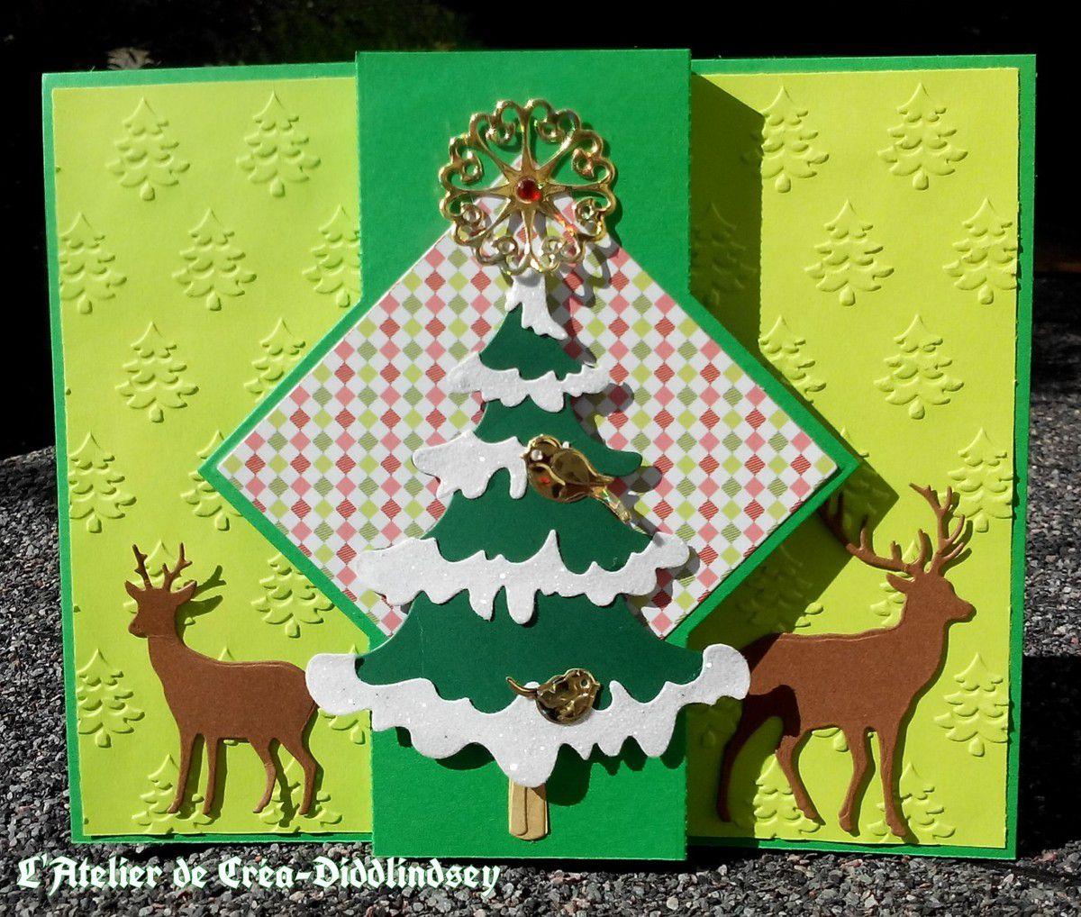 Carte pop up carr cerfs et sapin avec les outils nellie snellen le blog de diddlindsey - Carte pop up sapin ...