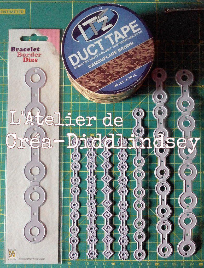 Voici la collection des bracelet border dies Nellie Snellen qui permettent de réaliser des bracelets en faux cuir à l'origine ou des embellissements pour le scrapbooking et la carterie