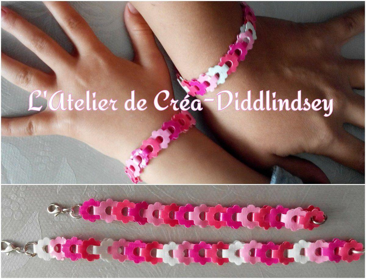 voici de joli petit bracelet mère et fille réaliser avec les die bracelet border die Nellie Snellen et du it'z duct tape