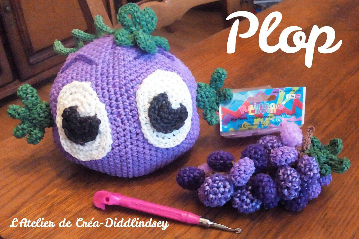 Plop et sa grappe de raisin crochet en lastique rainbow loom le blog de diddlindsey - Office de tourisme st pourcain sur sioule ...