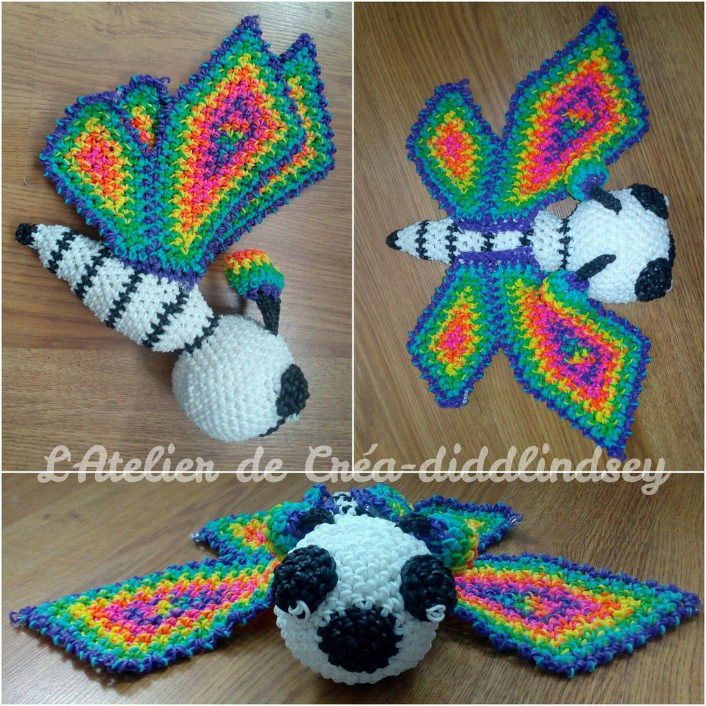 crocheter un joli papillon en lastique rainbow loom amigurumi le blog de diddlindsey. Black Bedroom Furniture Sets. Home Design Ideas