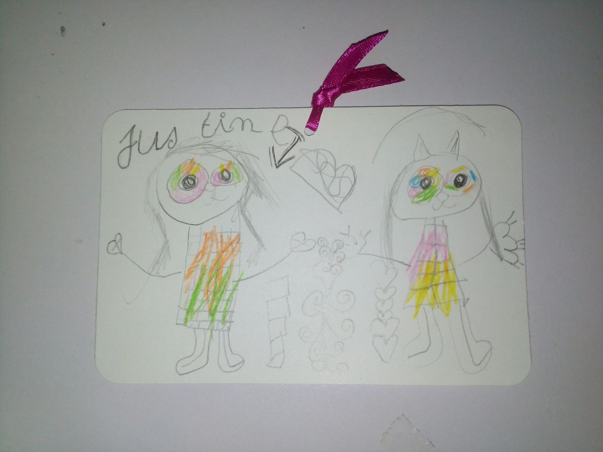 Et voici le dessin de mini moi pour son amie