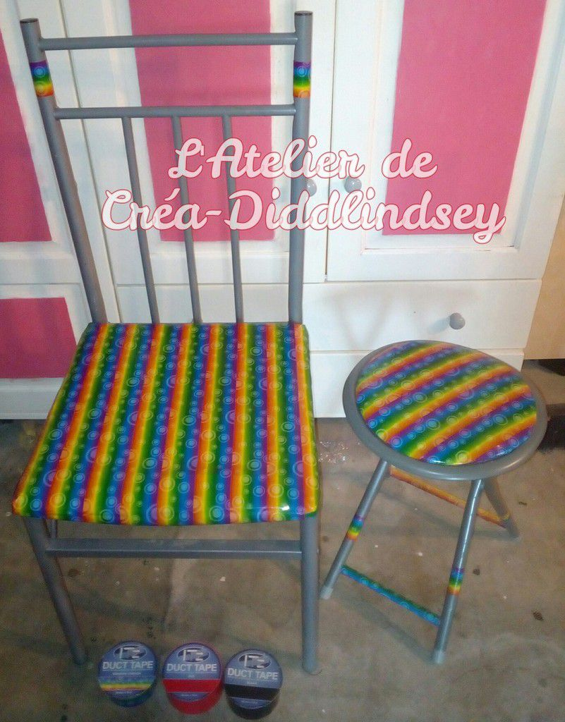 r novation d 39 une assise de chaise en it 39 z duct tape le blog de diddlindsey. Black Bedroom Furniture Sets. Home Design Ideas