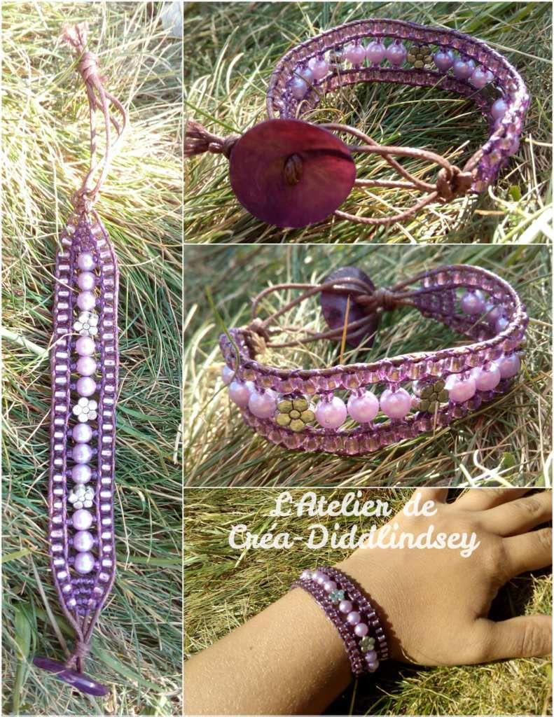 """Voici mon dernier bracelet wrap-it réalisé lors d'une balade """"journée pêche"""" au lac de Servière dans le Puy-de-Dôme à 1200 mètres d'altitude  (corrigé par Tewee)"""