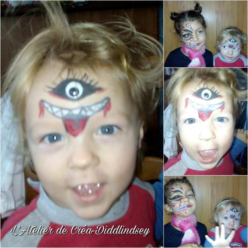 Et voilà un maquillage pour Halloween sur Anakyne