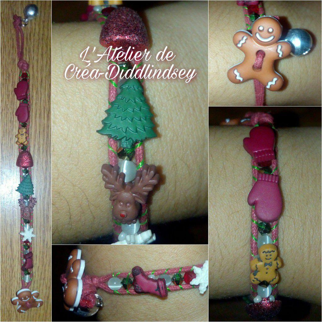 Voici un nouveau bracelet wrap de saisons ! Réalisé sur ma wrapit Rainbow loom avec de jolis boutons de Noël des perles Swarovski et des yeux de chat blanche
