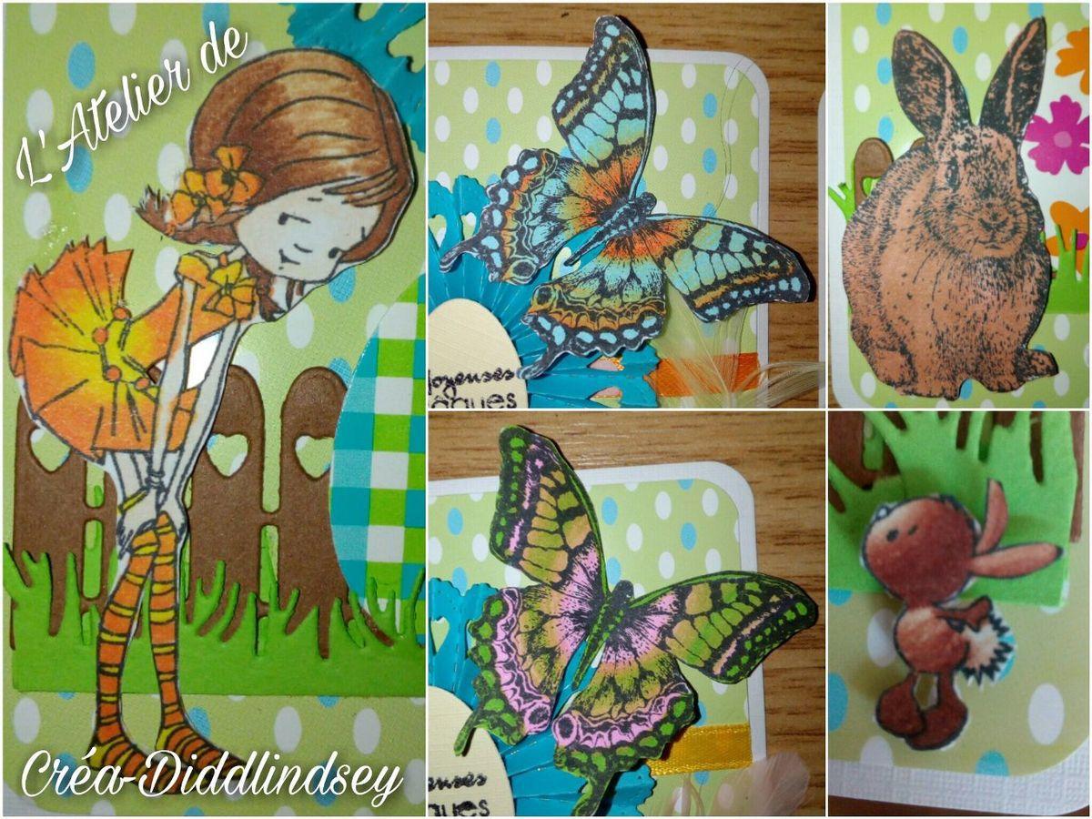 Voici le détail de la coloration des tampons Nellie Snellen avec les chameleons Pen