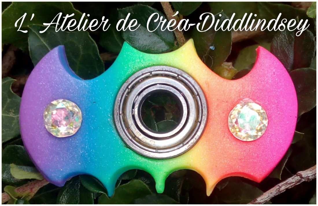 Mon Spinner chauve-souris arc-en-ciel en porcelaine froide &quot&#x3B;Brazil biscuits&quot&#x3B;