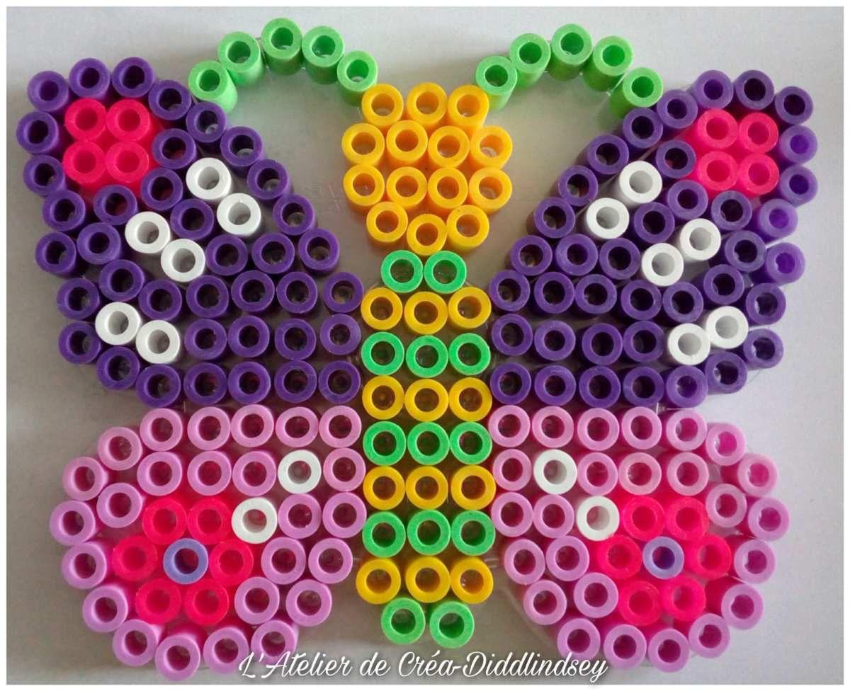 Décoration de jardin papillons en perles Hama maxi
