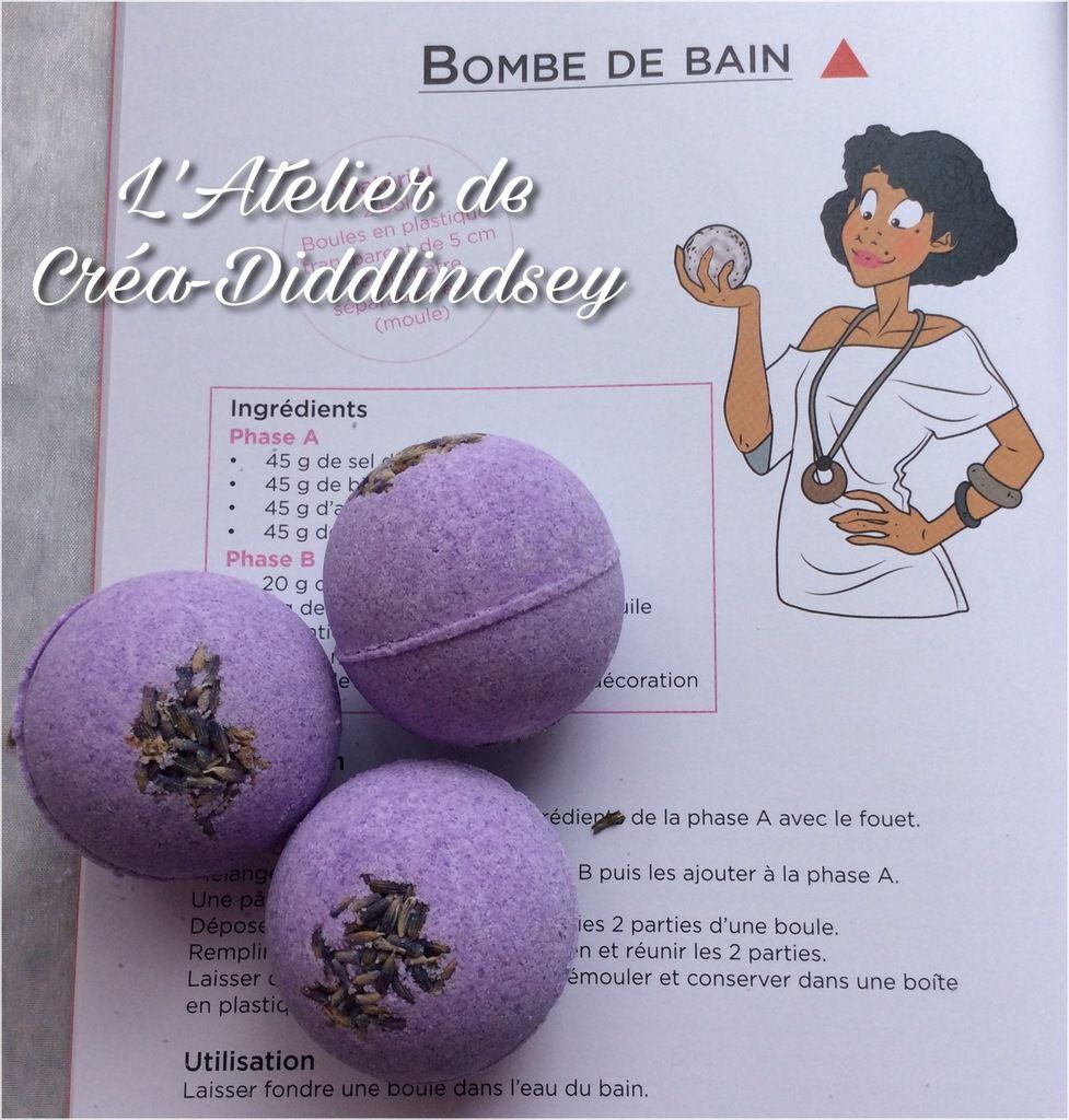 De jolies bombes de bain réalisé avec les recettes extrait de mon livre soins et beauté
