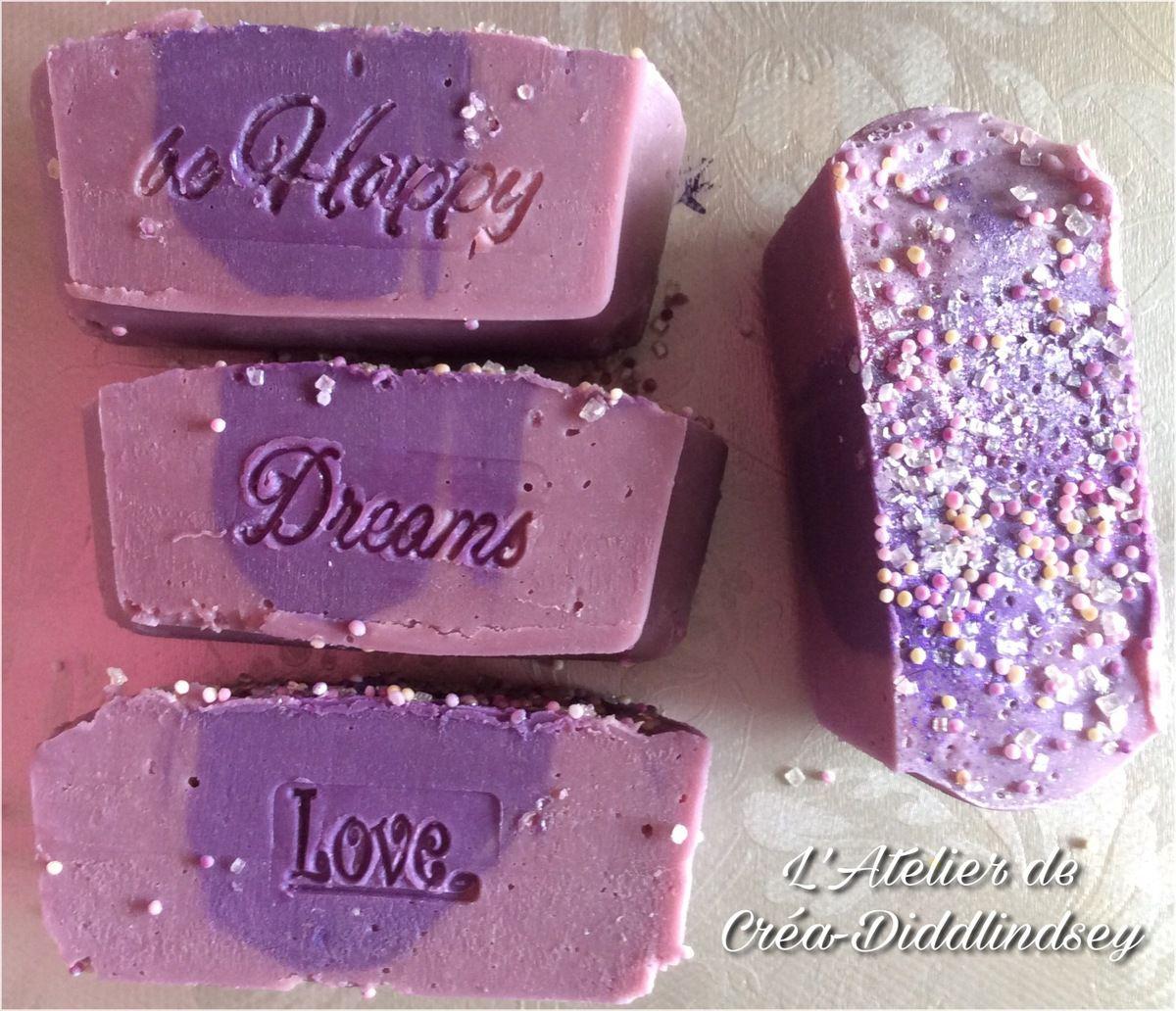 Mon savon saf au lait de chèvres frais fragrance coeur de violette de la sphere paradise
