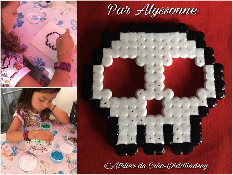 attrape r ves et t te de mort en perles hama par alyssonne. Black Bedroom Furniture Sets. Home Design Ideas