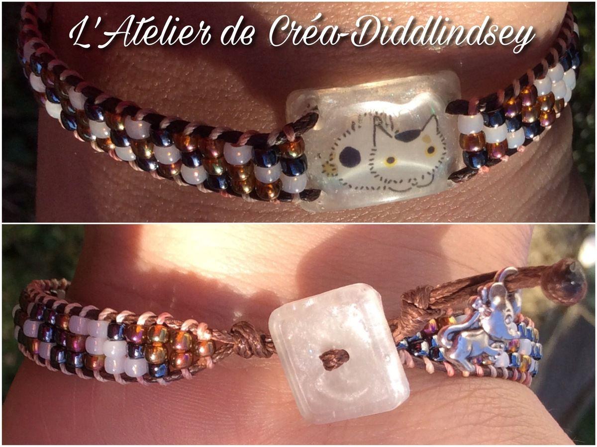 Sur Le Wrapit Réalisé Bracelet Thème Loom Wrap Avec Rainbow Chat sxQdrCBoth