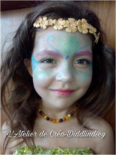 Maquillage grimage une jolie sirène inspiré de Snapchat