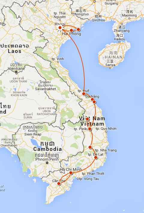 Notre parcours au Vietnam