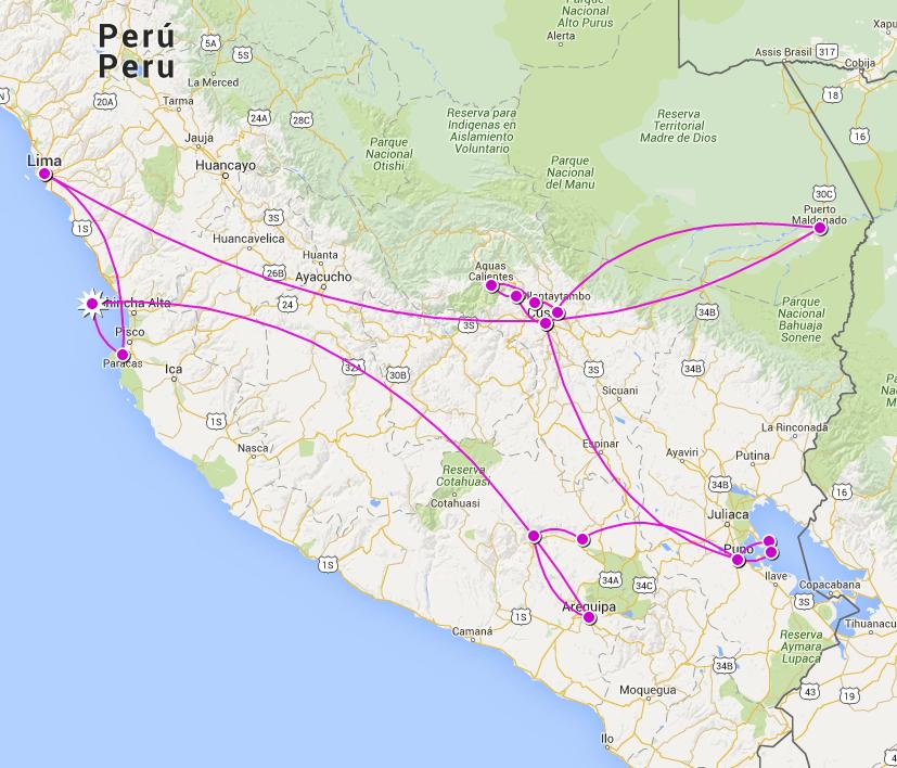 Notre parcours au Pérou