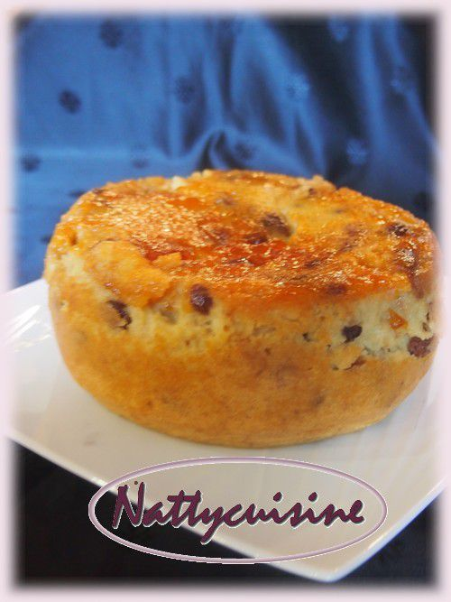 Pudding rhum raisins à la confiture