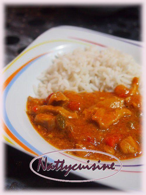 Curry de porc aux poivrons