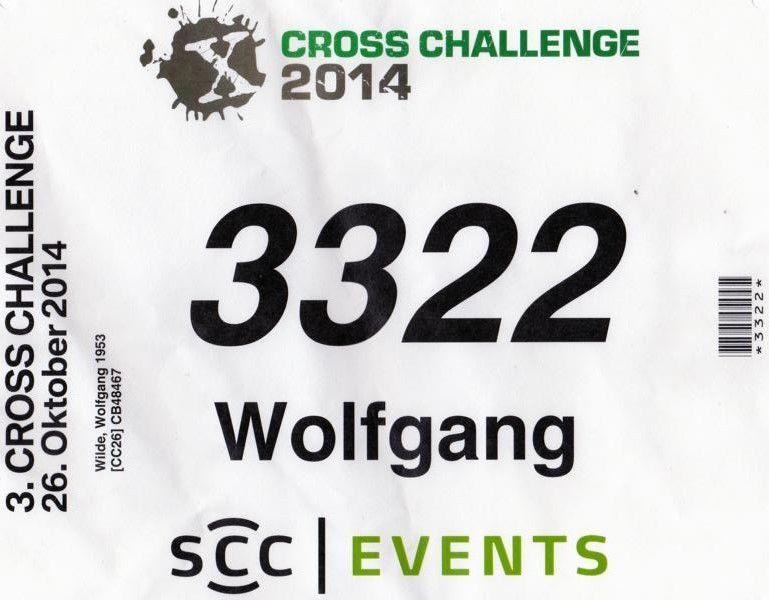 Cross Challenge 2014 Startnummer 3322