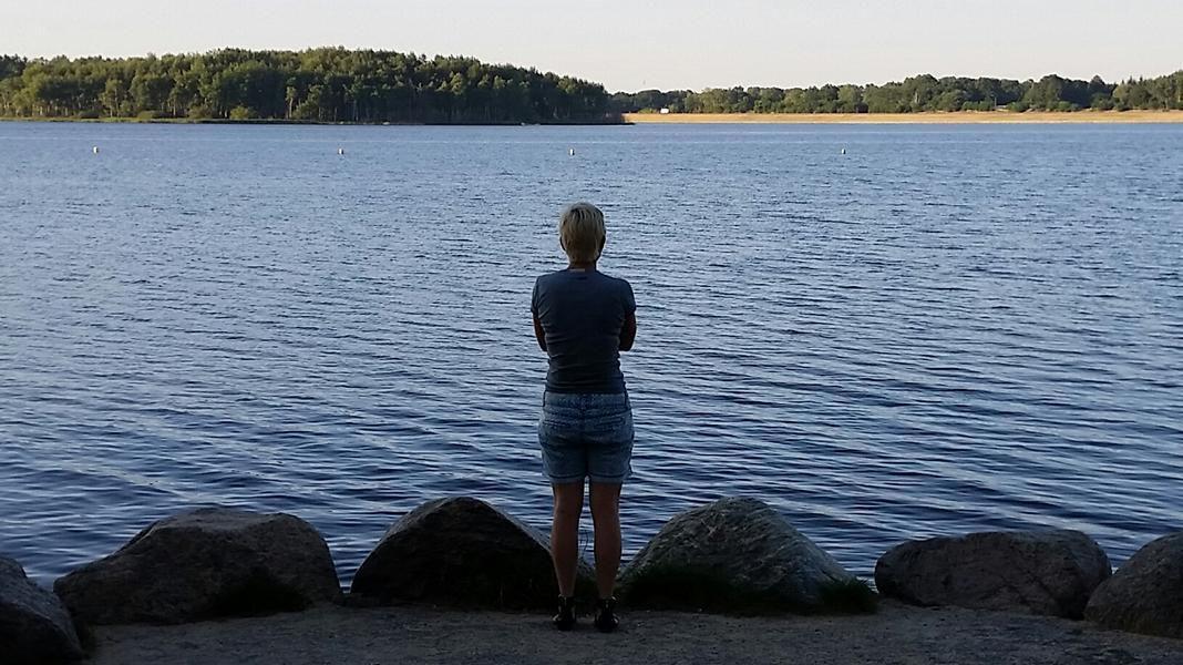 Der Silbersee. Einer der ältesten gefluteten Tagebaue. Das erst Mal war ich hier, dass war vor 40? Jahren?