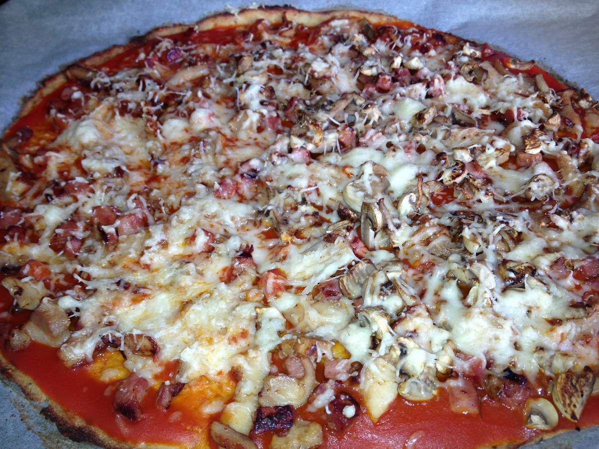 pizza avec p 226 te au choux fleur cookcookies