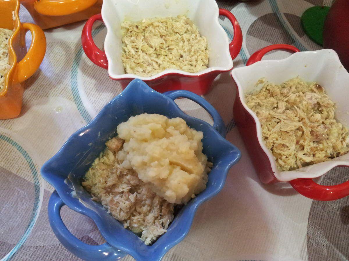 Gratin de pommes de terre au poulet