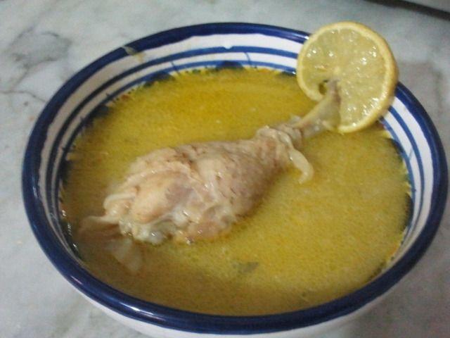 Soupe blanche au poulet