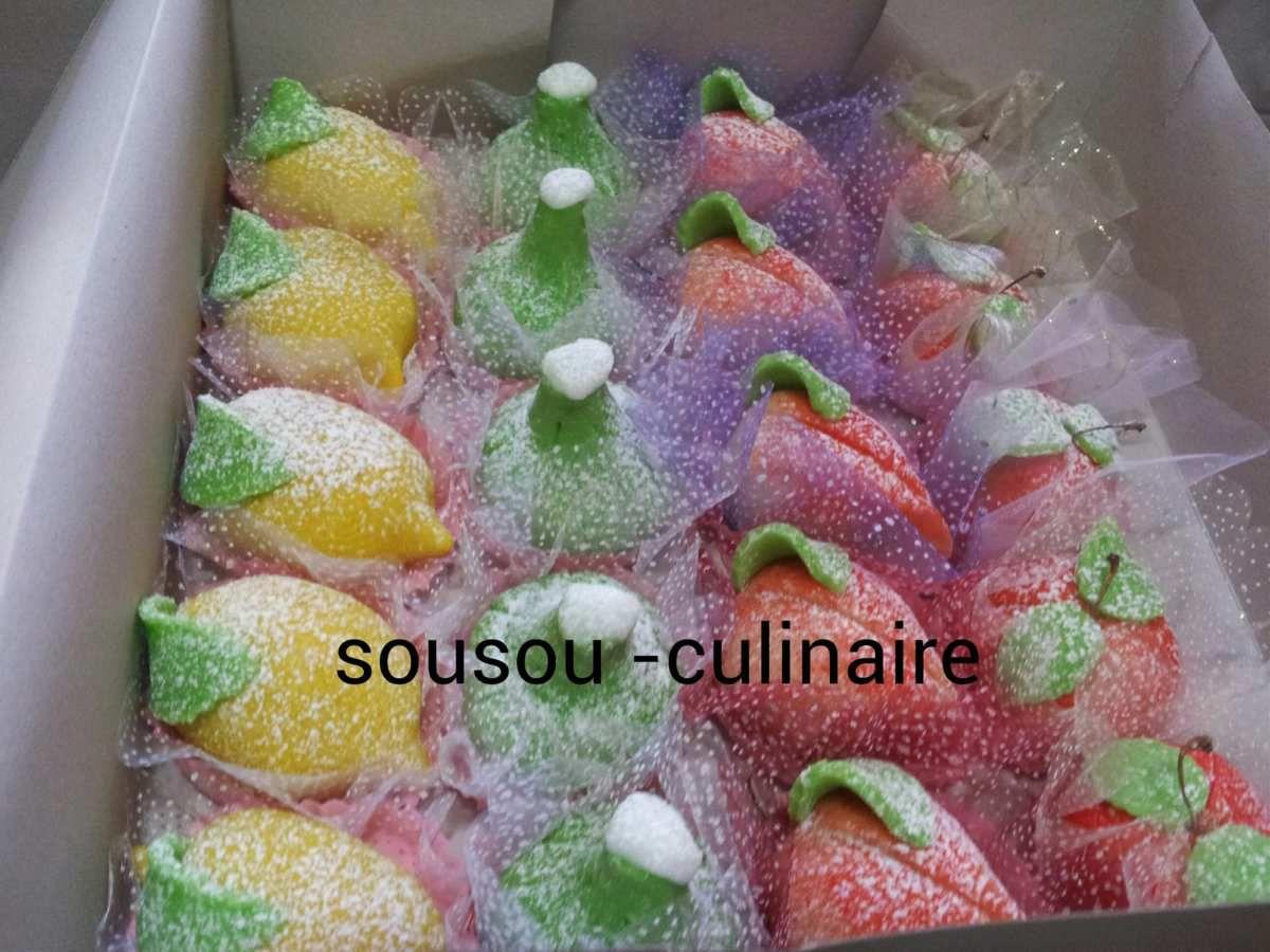 Commande de fruit en pâte d'amande