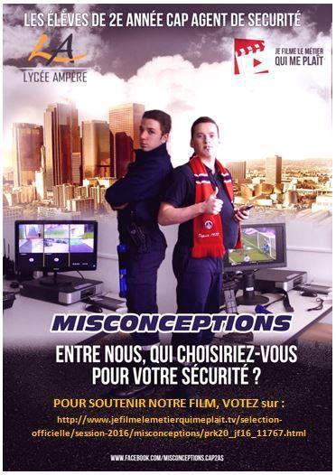 Film sur le métier d'agent de sécurité: Votez pour qu'il remporte le concours !