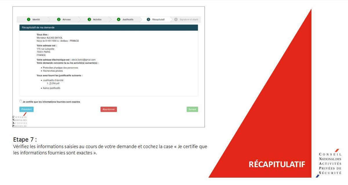 CNAPS:  Vous pouvez maintenant faire vos demandes de carte pro en ligne ! (Première demande, autorisation préalable, renouvellement, ...)