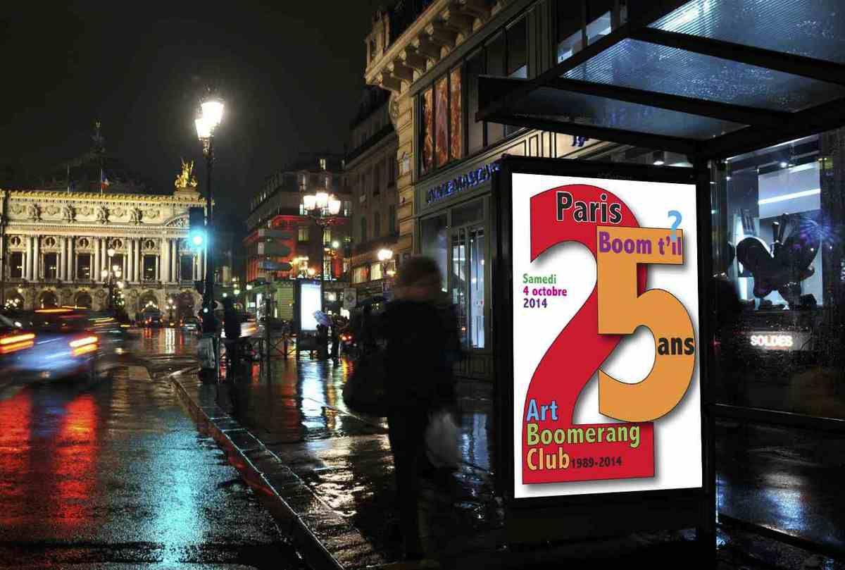 Les affiches du Paris boom t'il 2014
