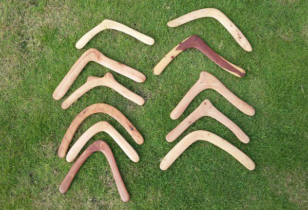 Some boomerangs made by Fadjar