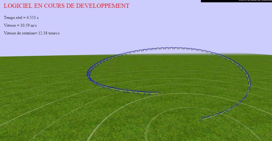 simulateur de vol de boomerang