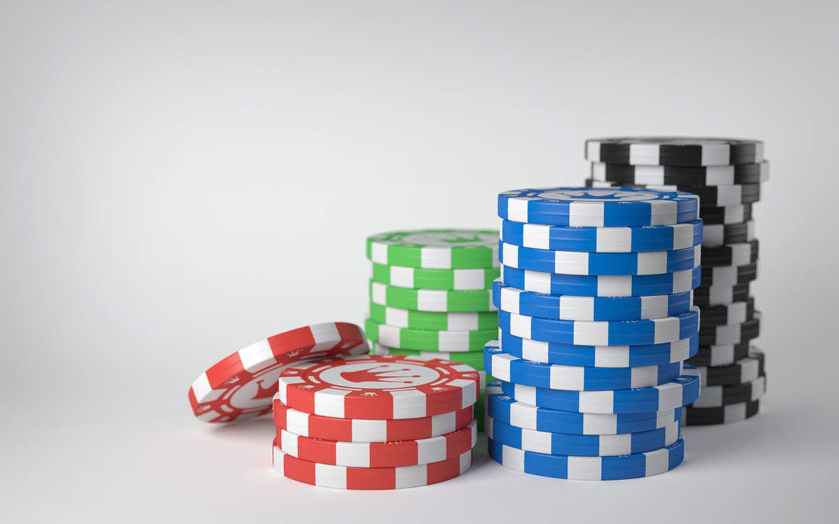 Stacked Poker Chips Desktop Wallpaper Grey Background ...