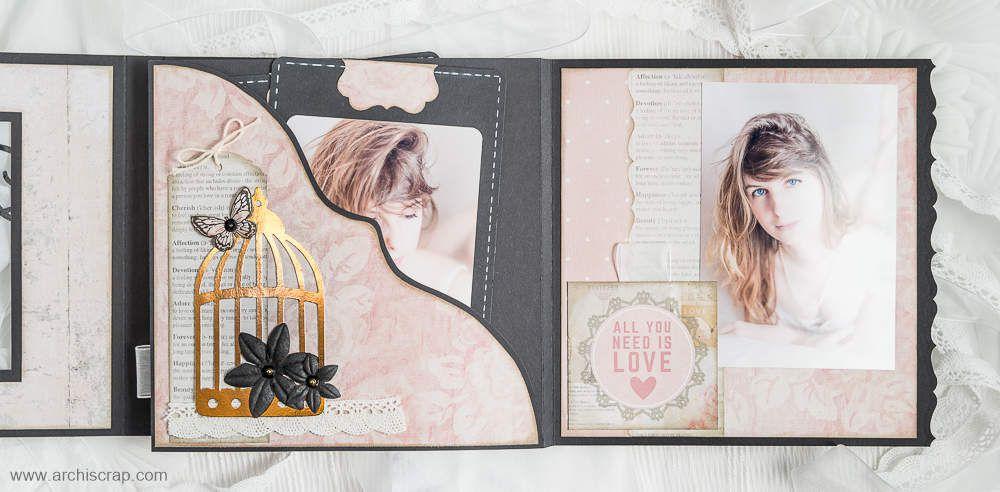 On referme cette première partie et on ouvre l'album dans l'autre sens en le basculant vers la droite pour découvrir une pochette et ses 2 tags également.