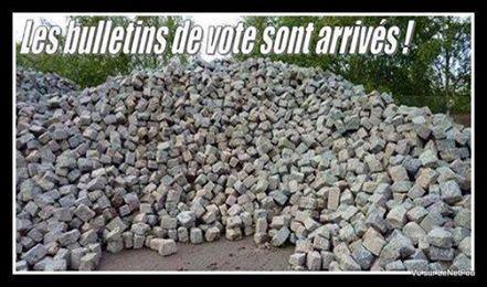 Les anciens bulletins de vote sont arrivés