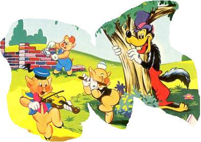 Humour Fable: Les Trois petits cochons protégés par ...