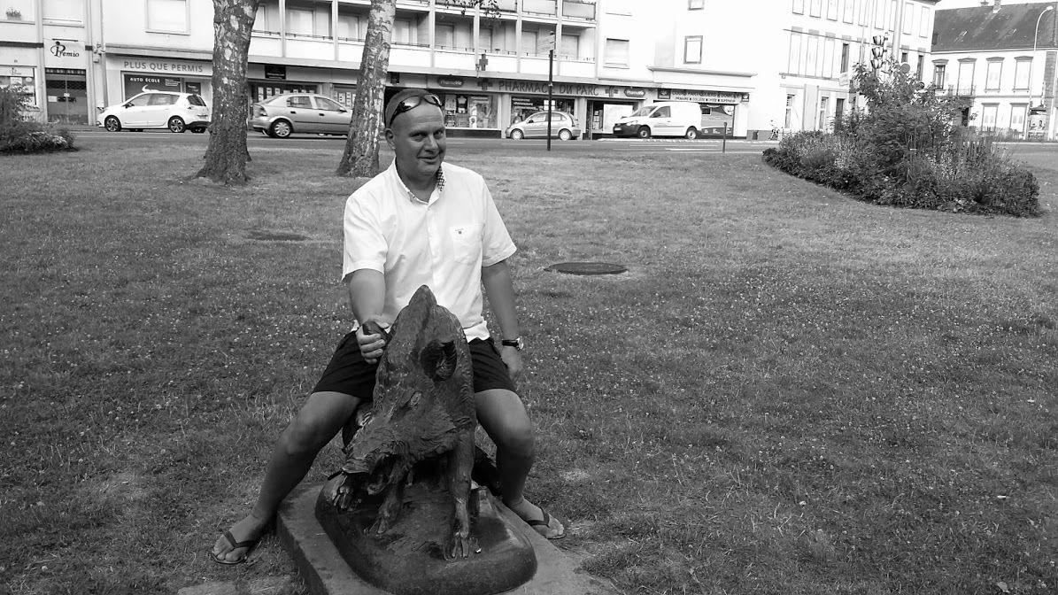 Sanglier en bronze dans le Parc de la Gare de Haguenau
