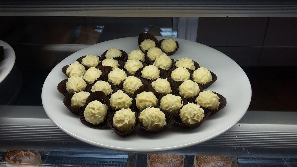 Truffes de chocolat blanc