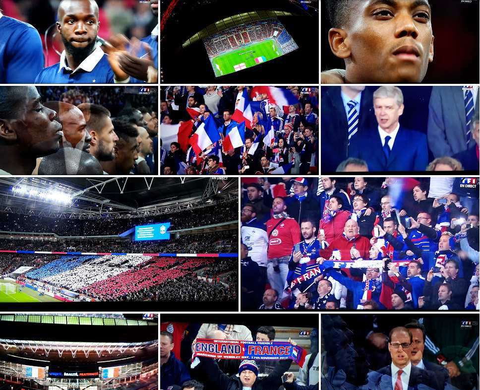 Emouvantes photos d'Angleterre-France au stade de Wembley