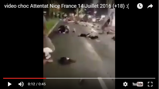 video choc bless s et morts de l 39 attentat de nice france 14 juillet 2016 doc de haguenau. Black Bedroom Furniture Sets. Home Design Ideas