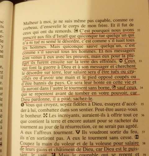 Extrait plus complet du Coran traduit en français