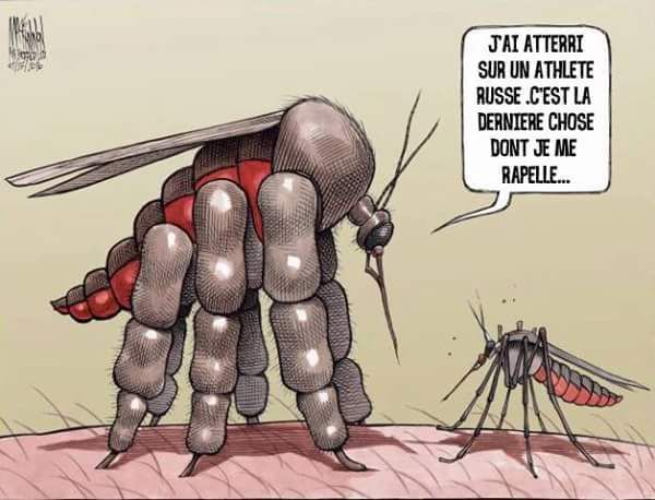 Humour JO Rio 2016: Attention moustiques Zika et dopage