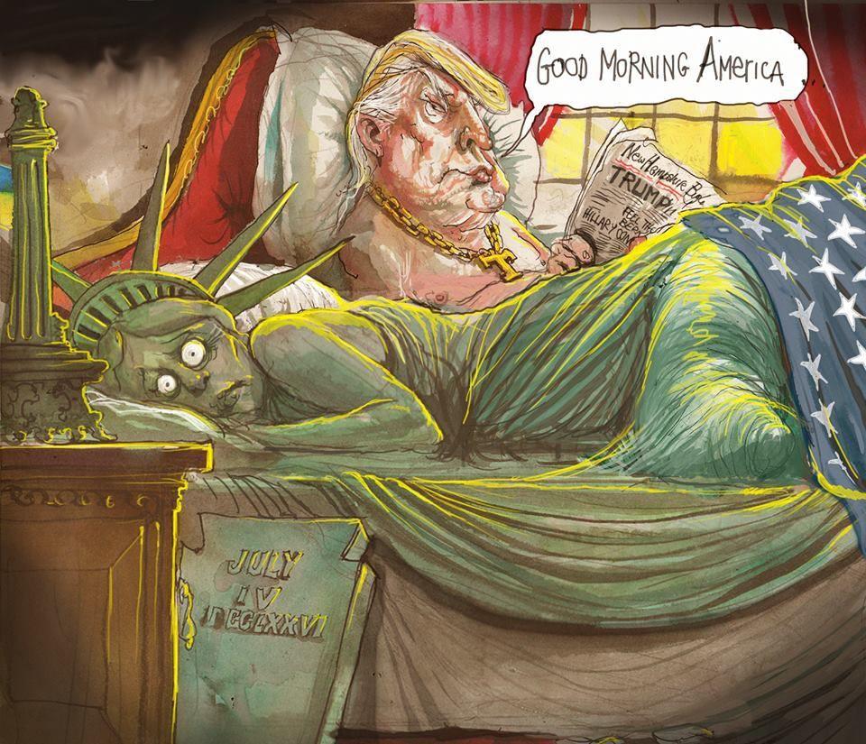 Humour Donald Trump Président: De l'horreur à la Joie du Front National