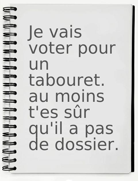 Humour Elections: Un vote de con pour se faire baiser