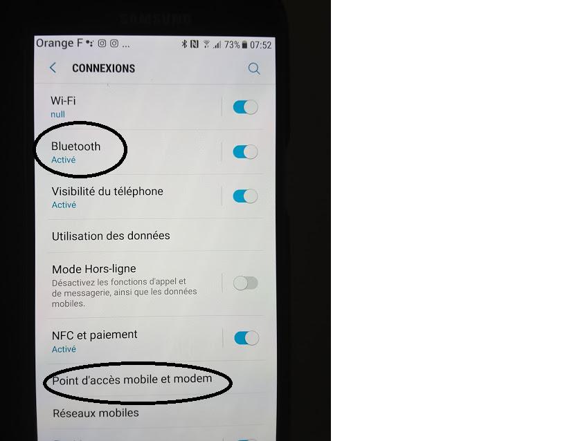 Comment connecter Internet sur votre tablette par votre téléphone?