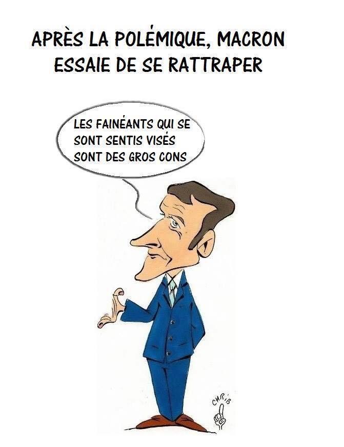 Humour Macron: Bandes de fainéants