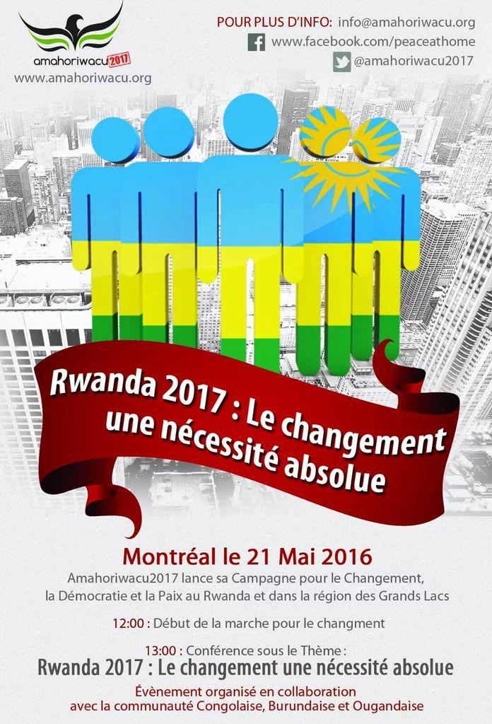 Rwanda 2017 : le chagement = une nécessité absolue